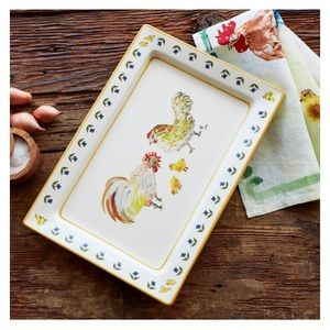 New Sur la Table rooster platter 12 x 18